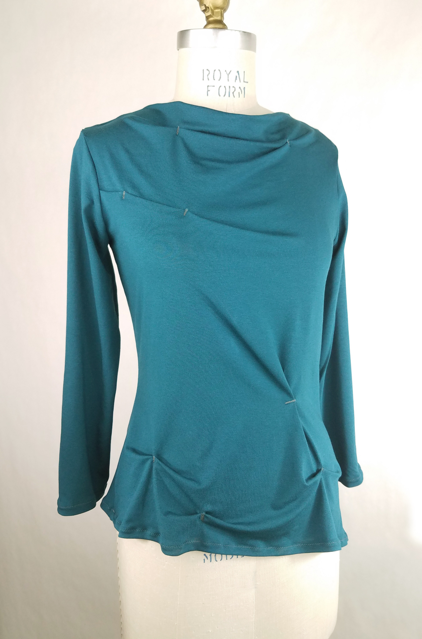 Funnel Neck Top in Teal