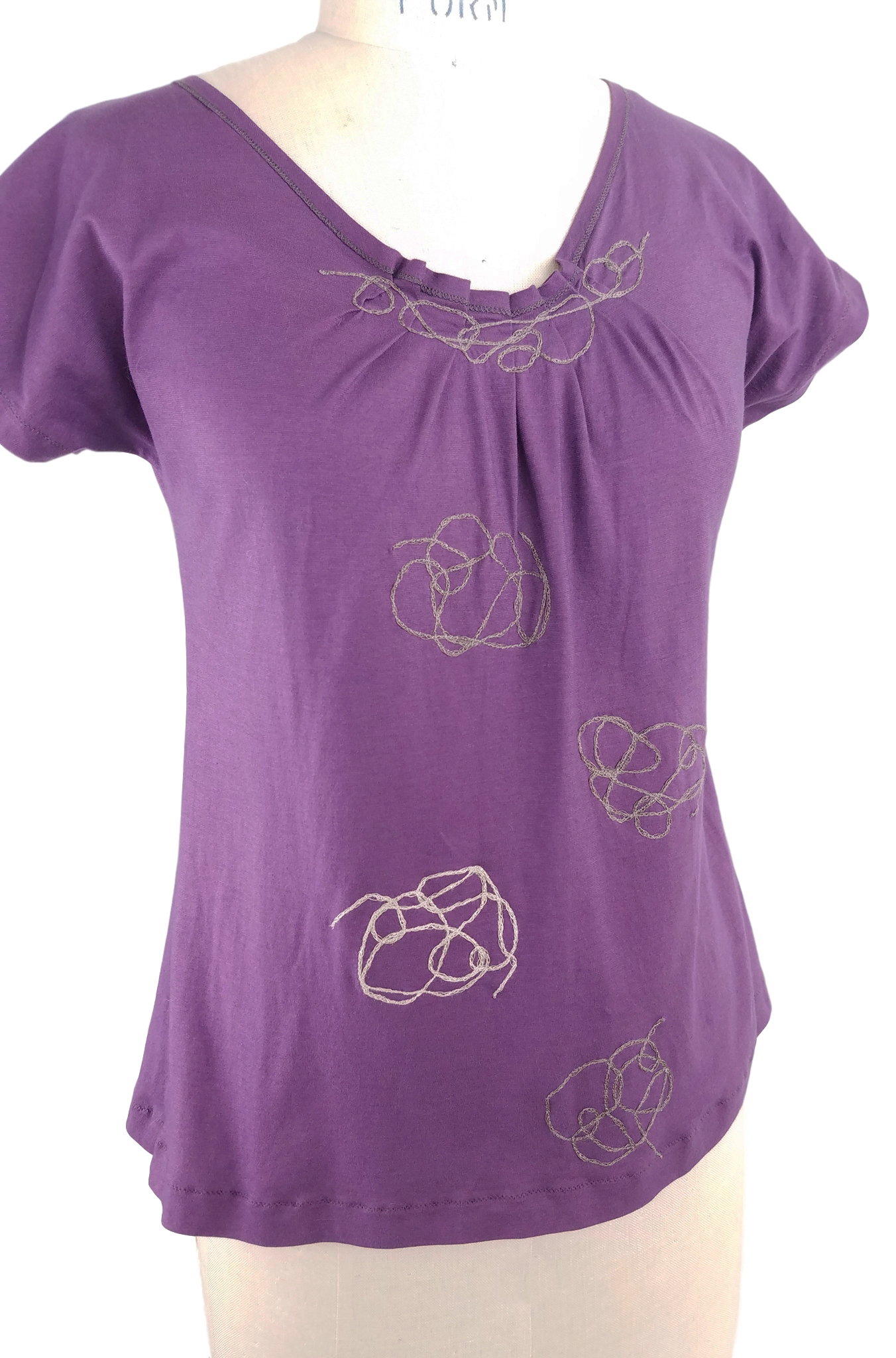 Knotted Top in Plum