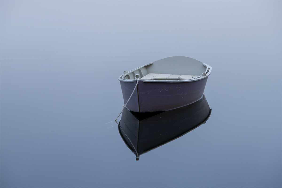 Dinghy on Still Water