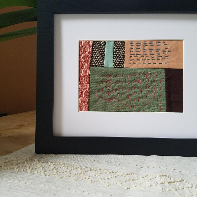 Embroidered Landscape Abstract